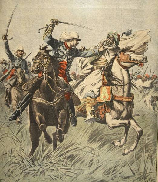 Soldier Drawing - Capture Of Samory By Lieutenant by French School