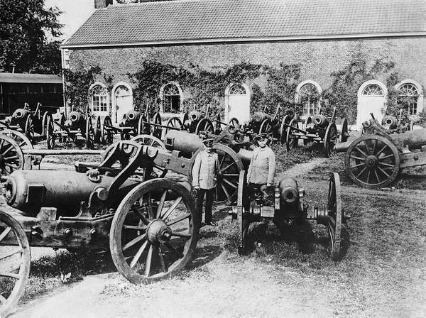 Photograph - Captured Belgian Artillery by Underwood Archives