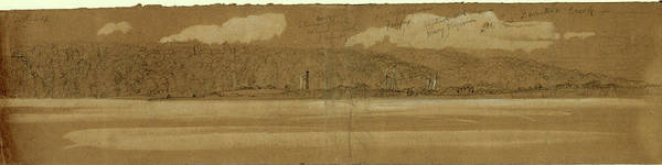 Wall Art - Drawing - Captured Schooners Fairfax And Mary Virginia In Quantico by Quint Lox