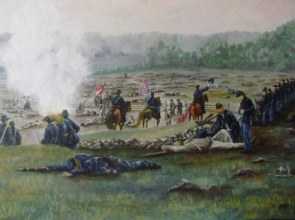 Wall Art - Painting - Capturing The Flag-picketts Charge by Joann Renner