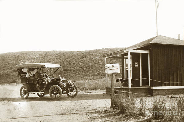 Photograph - Car At The Mexico California United States Border Crossings  1906 by California Views Archives Mr Pat Hathaway Archives