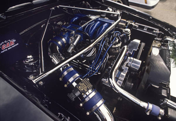 V8 Engine Wall Art - Photograph - Car Engine by Sally Mccrae Kuyper/science Photo Library