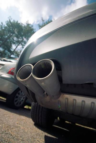 Exhaust Wall Art - Photograph - Car Exhaust Pipes by Trl Ltd./science Photo Library