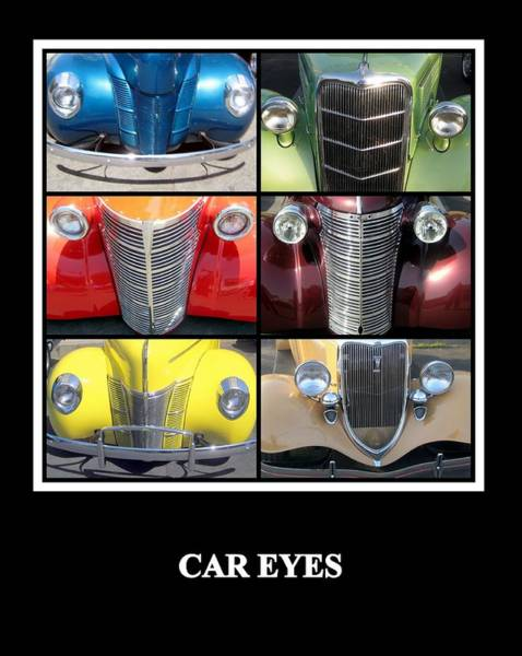 Photograph - Car Eyes by AJ  Schibig