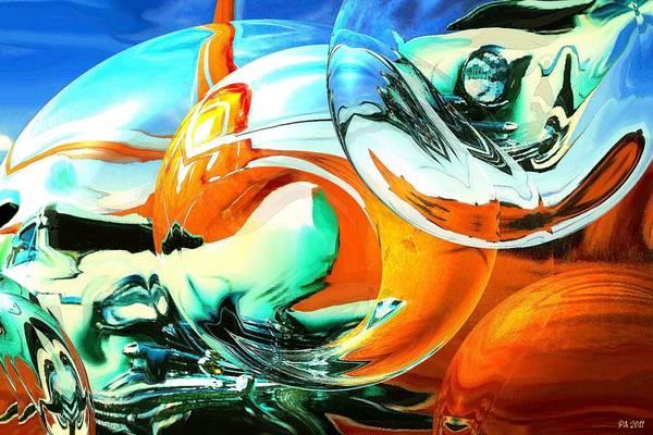Painting - Car Fandango - Modern Art by Peter Potter