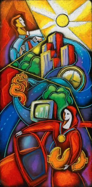 Potential Painting - Car Insurance by Leon Zernitsky