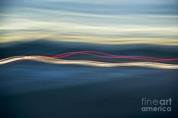 Photograph - Car Light Streaks by Charmian Vistaunet