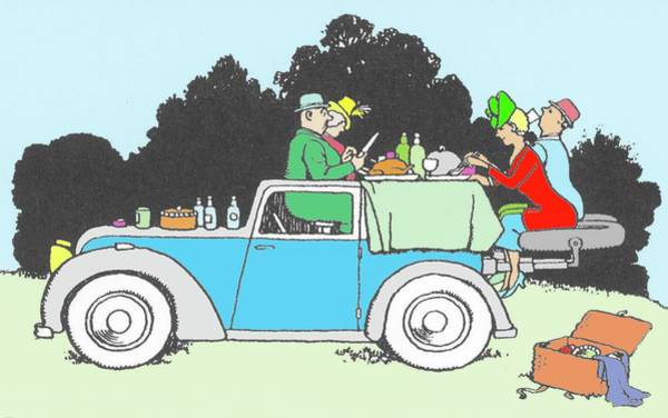 Wall Art - Photograph - Car Picnic By W. Heath Robinson By W. Heath Robinson by Adam Hart-davis/science Photo Library