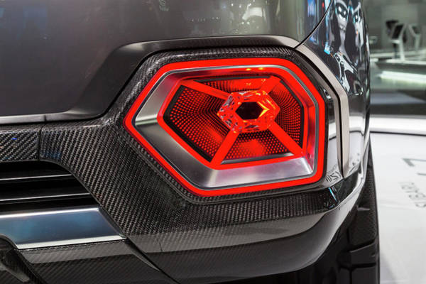 Detroit Auto Show Photograph - Car Tail Light by Jim West/science Photo Library