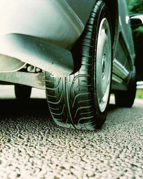 Tyre Wall Art - Photograph - Car Tyre Tread by Trl Ltd./science Photo Library