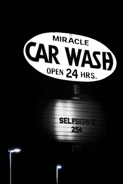 Black Car Photograph - Car Wash by Tom Mc Nemar