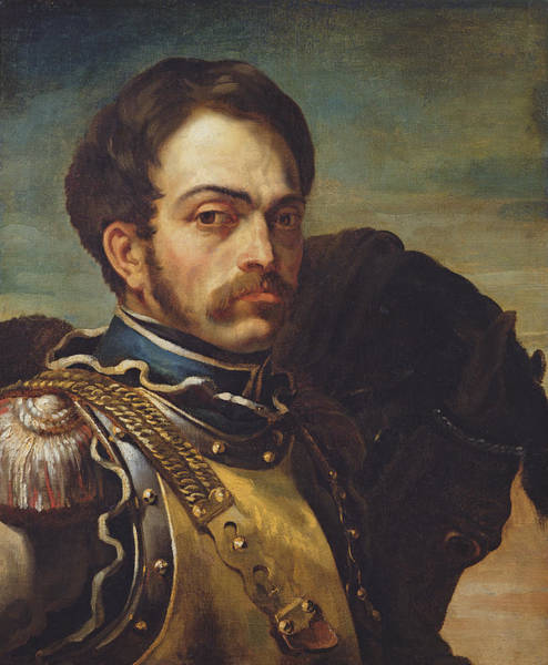 Epaulette Photograph - Carabinier Officer With His Horse, C.1814 Oil On Canvas by Theodore Gericault