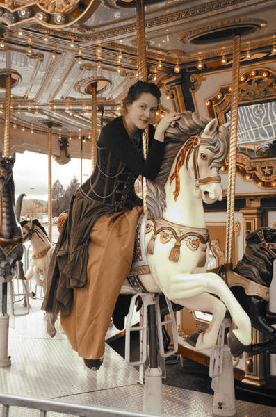Carousel Digital Art - Caramel Carousel by Teri Schuster