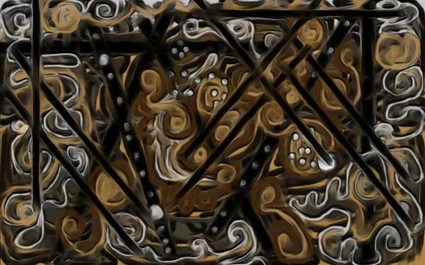 Digital Art - Caramel Chocolate Swirl Cake by Barbara St Jean