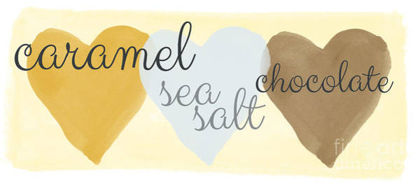 Chocolate Wall Art - Painting - Caramel Sea Salt And Chocolate by Linda Woods