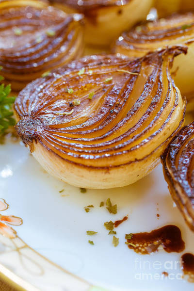Golden Delicious Wall Art - Photograph - Caramelized Balsamic Onions by Edward Fielding