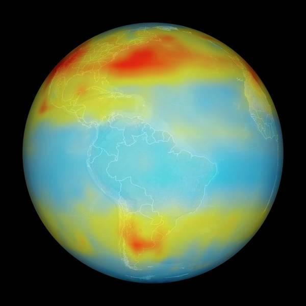 Jet Propulsion Laboratory Photograph - Carbon Dioxide Levels by Nasa/goddard Space Flight Center/jet Propulsion Laboratory Scientific Visualization Studio