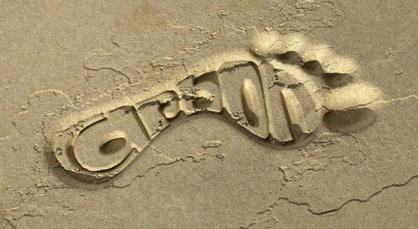 Wall Art - Digital Art - Carbon Footprint In The Sand by Allan Swart