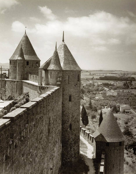 Wall Art - Photograph - Carcassone, 1950 by Granger