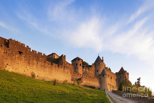 Chateau Photograph - Carcassonne Languedoc Roussillon France by Colin and Linda McKie