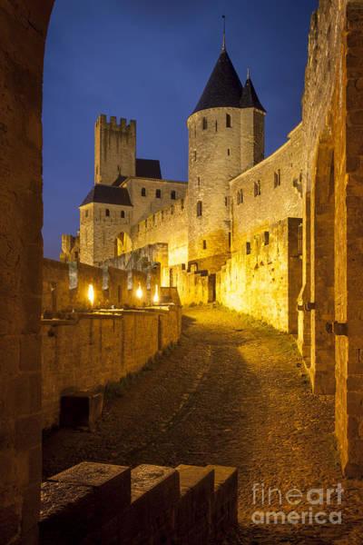 Knights Templar Photograph - Carcassonne Twilight by Brian Jannsen