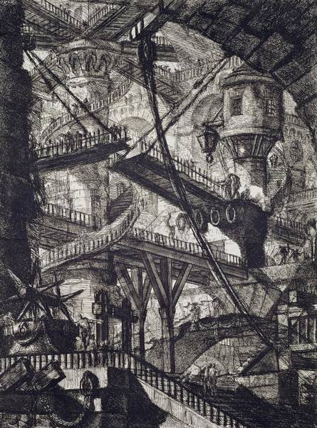Surrealist Drawing - Carceri Vii by Giovanni Battista Piranesi