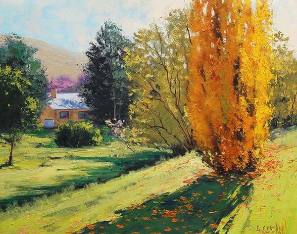 Poplar Painting - Carcor Autumn by Graham Gercken
