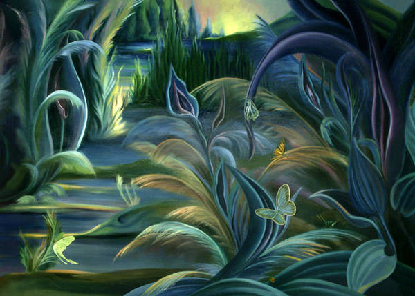Painting - Card Design For Insects Of Enchanted Stream by Nancy Griswold