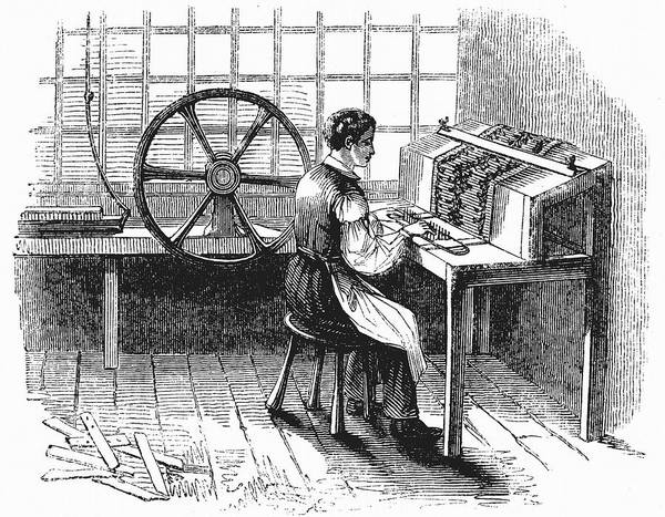 But Photograph - Card Punching Machine For Jacquard Looms by Universal History Archive/uig