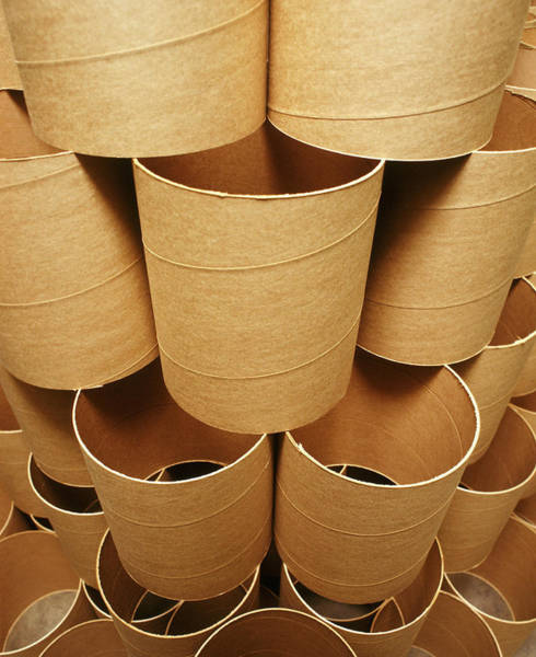 Drum Circle Wall Art - Photograph - Cardboard Rolls by Ton Kinsbergen/science Photo Library