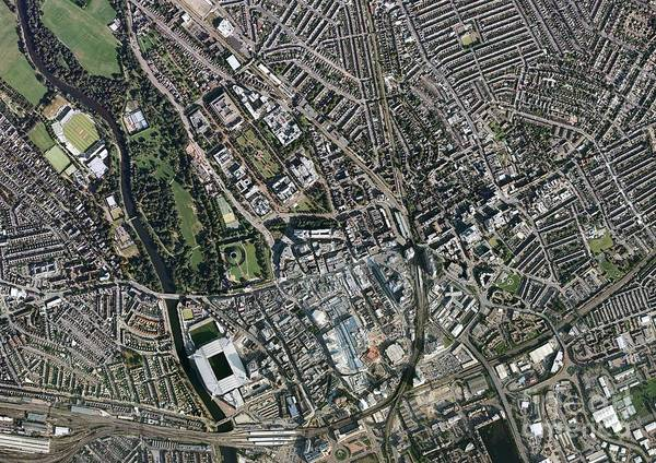 Road Map Photograph - Cardiff City Centre, Aerial Photograph by Getmapping Plc
