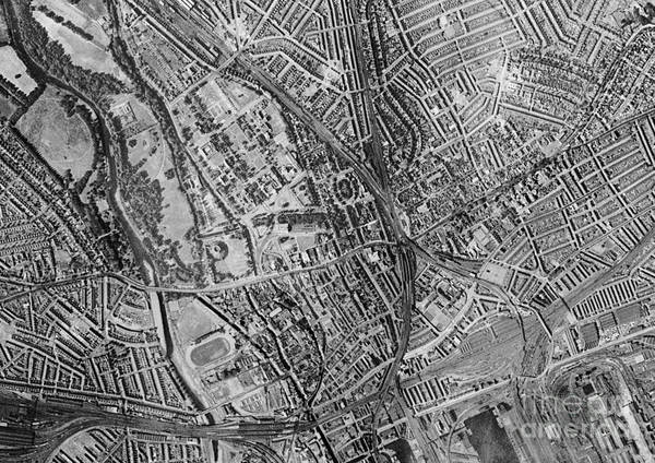 Road Map Photograph - Cardiff, Historical Aerial Photograph by Getmapping Plc