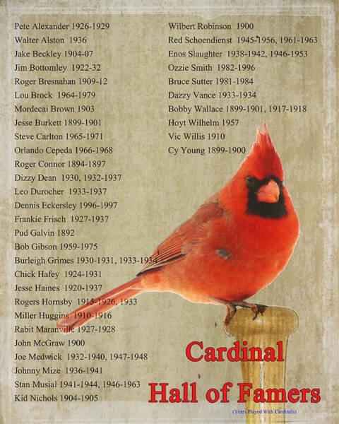 Baseball Hall Of Fame Photograph - Cardinal Hall Of Famers by Karen Beasley