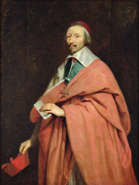 Statesman Wall Art - Photograph - Cardinal Richelieu 1585-1642 C.1639 Oil On Canvas by Philippe de Champaigne