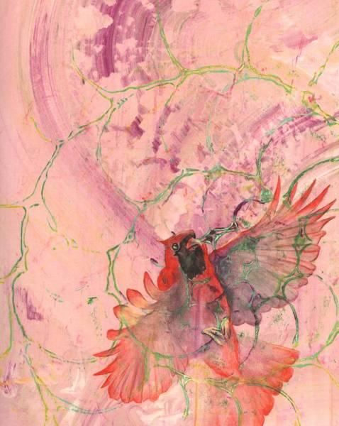 Red Cardinal Drawing - Cardinal by Sara Bell