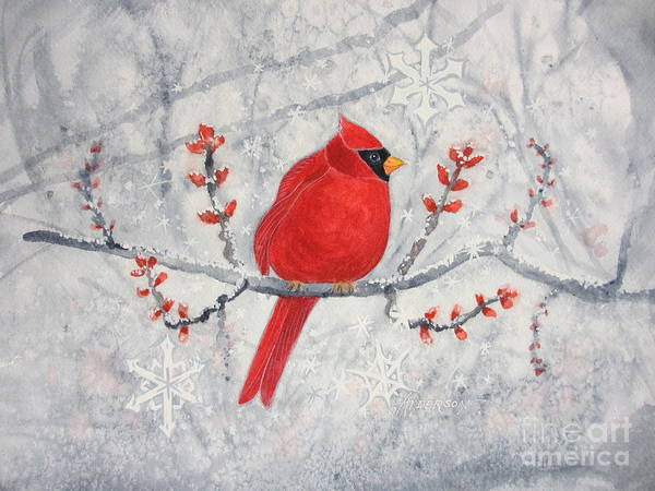 Painting - Cardinal by Sherri Anderson