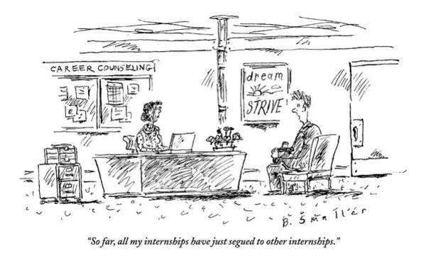 Career Drawing - Career Counseling Office. A Student Talks by Barbara Smaller