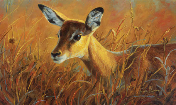 Painting - Careful by Lucie Bilodeau
