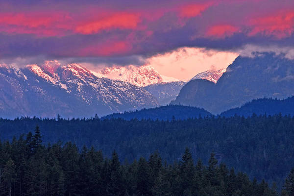 Photograph - Caren Mountain Range by Peggy Collins