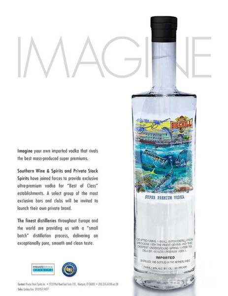 Wall Art - Glass Art - Carey Chen Big Chill Vodka By Jimmy Johnson by Carey Chen