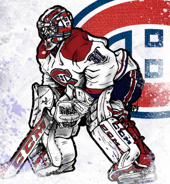 Montreal Canadiens Digital Art - Carey Price by Nate Gandt