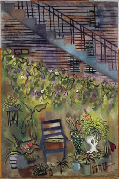 Central America Painting - Careys Backyard by Loren MacIver