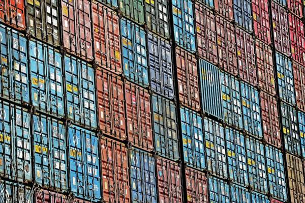 Cargo Containers Wall Art - Photograph - Cargo Containers by Bildagentur-online/ohde/science Photo Library
