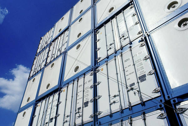 Cargo Containers Wall Art - Photograph - Cargo Containers by Ton Kinsbergen/science Photo Library
