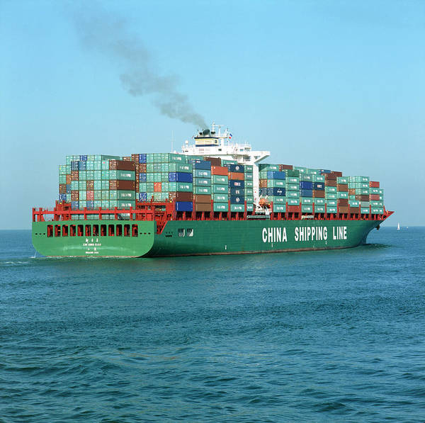 Freight Transport Wall Art - Photograph - Cargo Ship by Alex Bartel/science Photo Library