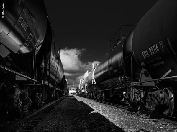 Photograph - Cargo Trains by Alexander Fedin