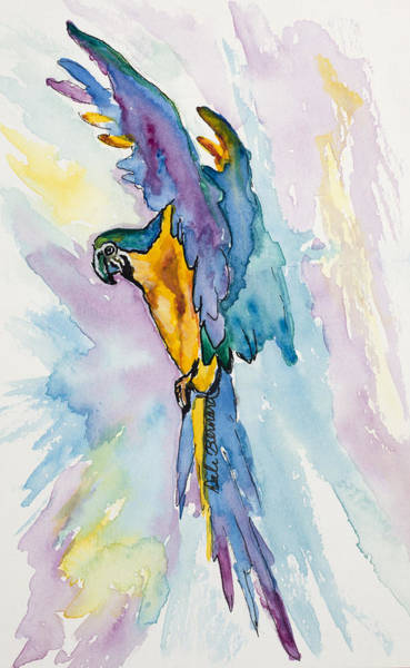 Painting - Caribbean Blue Macaw by Dale Bernard
