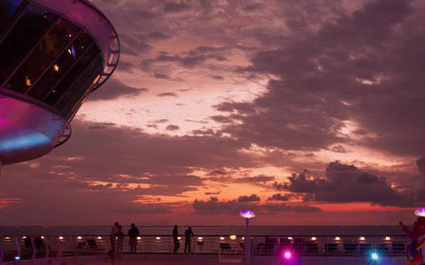 Photograph - Caribbean Cruise Light Show by John M Bailey