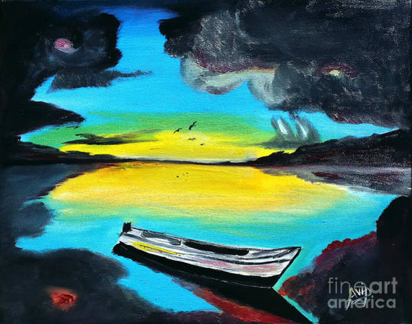 Avi Painting - Caribbean Dawn by Avishai Avi     Peretz