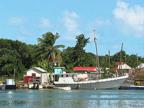 Photograph - Caribbean - Docked Boats At Antigua by Susan Savad